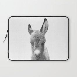Black and White Baby Donkey Laptop Sleeve