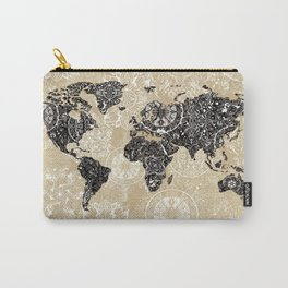 world map mandala sepia Carry-All Pouch