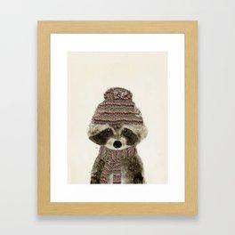 little indy raccoon Framed Art Print