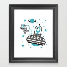 space Blue! Framed Art Print