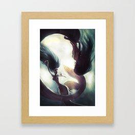 Mermaids game Framed Art Print
