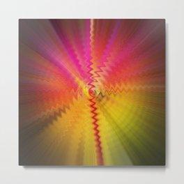 Rainbow wave sounds Metal Print