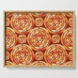 Orange pattern Serving Tray