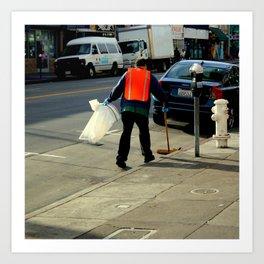 Catch The Wind-sweeper Art Print