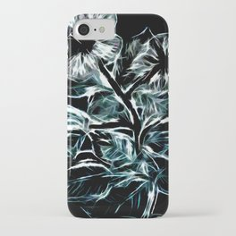 Flowers In Green iPhone Case