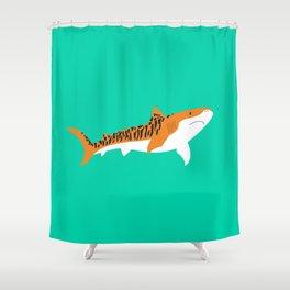 Tiger Shark Shower Curtain
