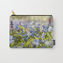 Spring flower meadow - Colorful flowers -floral Carry-All Pouch