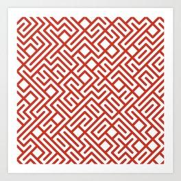 10 Print: Bold Red Art Print