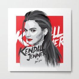 Kendall Jenner Metal Print