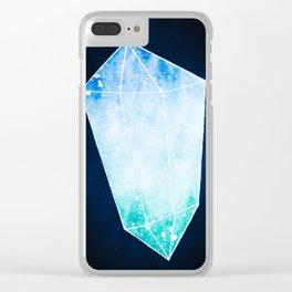 Watercolor Galaxy Crystal Aqua Clear iPhone Case