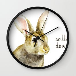 Settle Down Wall Clock