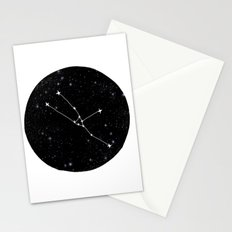 Taurus constellation black and white minimal star chart stars outer space astronomy Stationery Cards