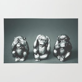 See Hear & Speak No evil Rug