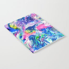 Bathbomb, fluid art, psychedelic art, trippy, psytrance, lsd, acid Notebook