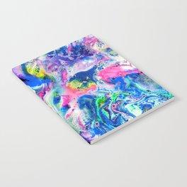 Bathbomb, fluid art, psychedelic art, trippy, psytrance, lsd, acid Notebook