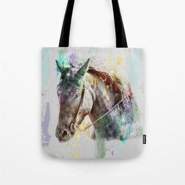 Watercolor Horse Portrait Tote Bag