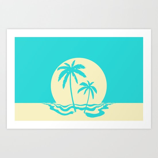 Calm Palm Art Print