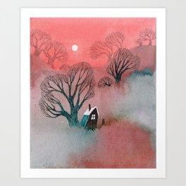 Misty Moors Art Print