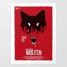 Wolfen (Red Collection) Art Print