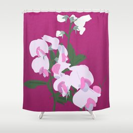 Juicy Sweet Peas Shower Curtain