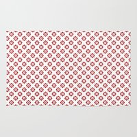 flower pattern Area & Throw Rugs featuring Flower Pattern by Kings in Plaid