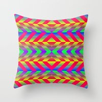 psychedelic Throw Pillows featuring Psychedelic by Texture