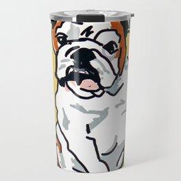 Bulldog Portrait Travel Mug