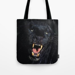 Black Leopard (Panther) Tote Bag