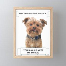 You Should Meet My Yorkie   Dogs   Nadia Bonello   Canada Framed Mini Art Print