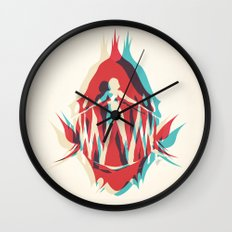 Piranha Girl Wall Clock