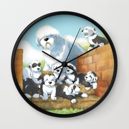 oes puppies Wall Clock