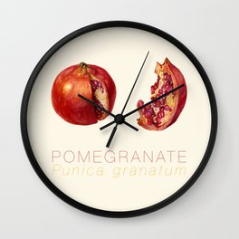 Pomegranate, Punica granatum Wall Clock