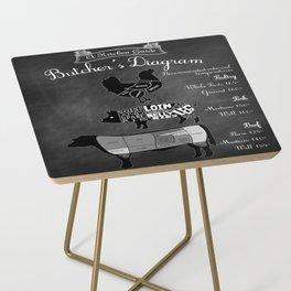 Butcher's Diagram - Kitchen Decor Side Table