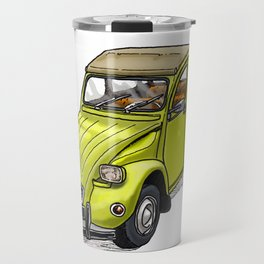 Yellow 2CV Travel Mug