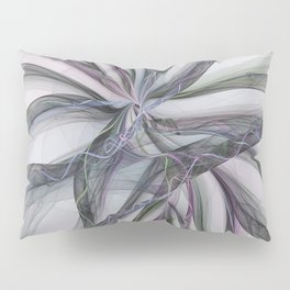 Filigree Motions, Abstract Fractal Art Pillow Sham
