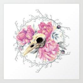 Avian Flower Bones Art Print