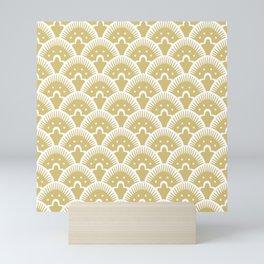 Fan Pattern Gold 201 Mini Art Print