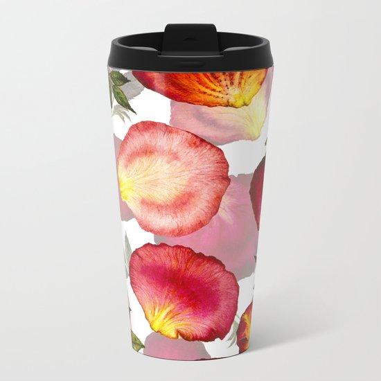 Rose Petal Pattern 02 Metal Travel Mug
