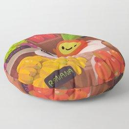 Pineapple NANA in the market Floor Pillow