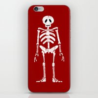 skeleton iPhone & iPod Skins featuring Skeleton by Emma Harckham