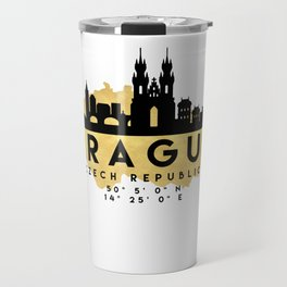 PRAGUE CZECH REPUBLIC SILHOUETTE SKYLINE MAP ART Travel Mug