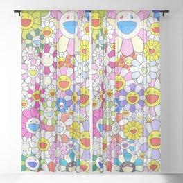 mukarami flowers Sheer Curtain