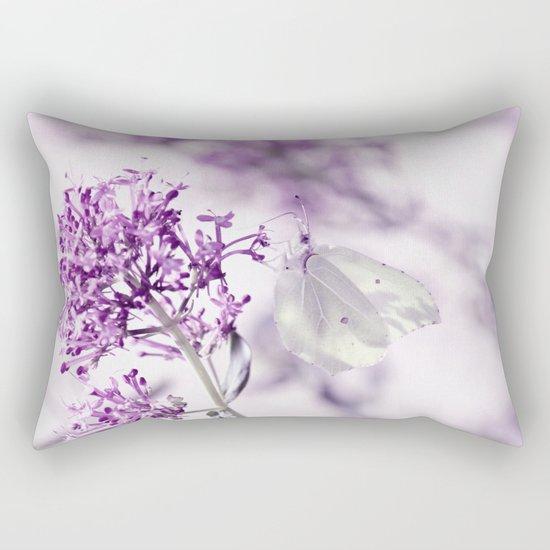 Butterfly macro white 55 Rectangular Pillow