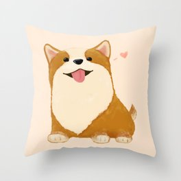Corgi [heart!] Throw Pillow