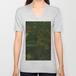 "Gustave Courbet ""A Brook in a Clearing"" Unisex V-Neck"