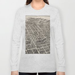 Vintage Pictorial Map of Reno Nevada (1907) Long Sleeve T-shirt
