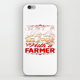 In love with a farmer iPhone Skin