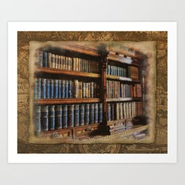 Knowledge - Antique Books on History & Law Art Print