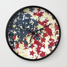 EUA FLAG STARS Wall Clock