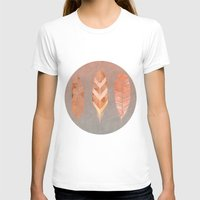 feathers T-shirts featuring Feathers by LebensART